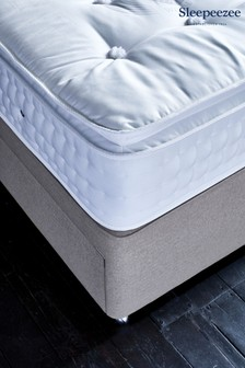 2400 Natural Mattress Divan Set By Sleepeezee