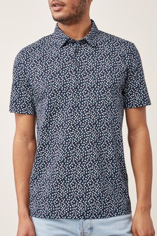 Tiny Floral Print Polo