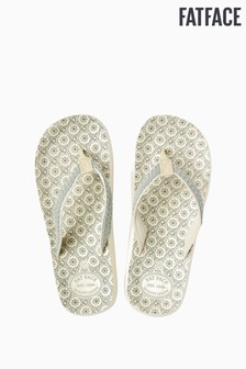 FatFace Cream Bay Ceramic Tile Print Flip Flop