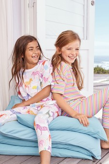 Rainbow/Zebra Legging Pyjamas Two Pack (3-16yrs)