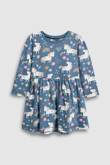 Unicorn Long Sleeve Dress (3mths-6yrs)