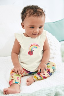 Frill Top And Leggings Set (0mths-2yrs)