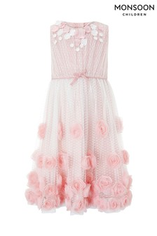 Monsoon Dusky Pink Lillie Rose Dress