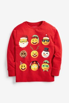 Christmas Faces Graphic T-Shirt (3-16yrs)