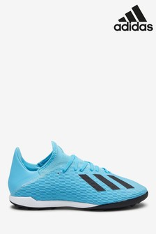 adidas Blue Hardwired X Turf Football Boots