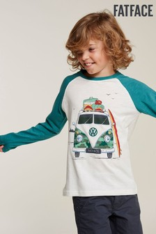 FatFace Natural VW Camo Camper Graphic Tee