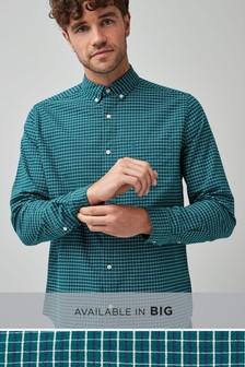 Chemise à manches longues motif vichy