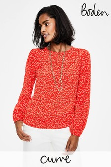 Boden Red Veronica Blouse