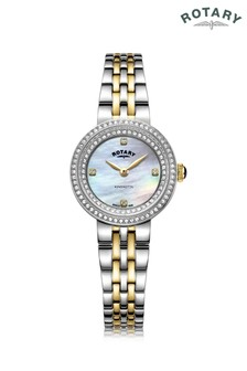 Rotary Ladies Two Tone Gold Plated Bracelet Watch