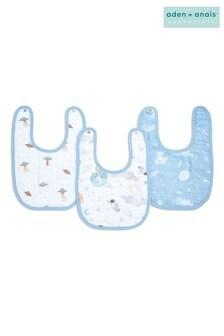 aden + anais™ Essentials Space Explorers 3 Pack Cotton Muslin Baby Snap Bibs