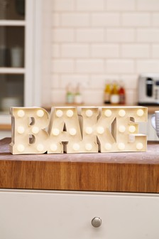 Bake Battery Operated Lit Sign
