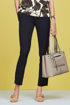 Pin Dot Slim Trousers