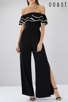 Coast Black Shannon Bardot Jumpsuit