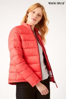 White Stuff Red Isbourne Funnel Jacket