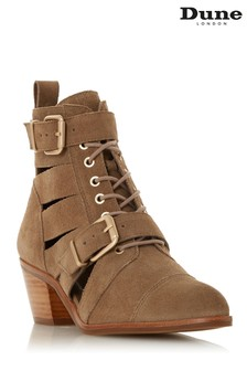 Dune London Sand Two Buckle Cut-Out Boot