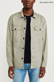 Abercrombie & Fitch Olive Military Shirt