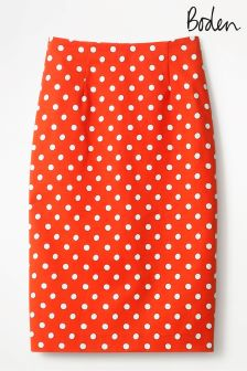 Boden Orange Richmond Pencil Skirt