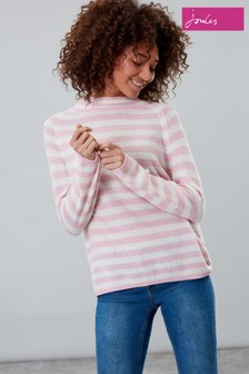 Joules Abigail Textured Stripe Funnel Neck Jumper