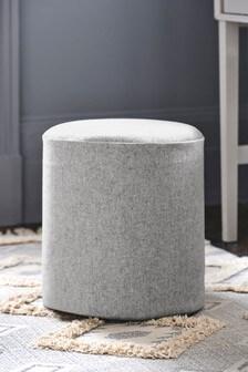 Milan Stool Wool Blend Grey