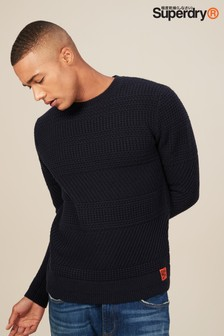 Superdry Navy Seattle Crew Jumper