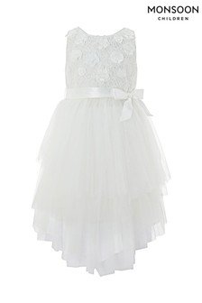 Monsoon Off White Eliona Dress