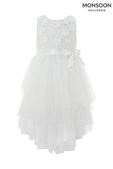Серовато-белое платье Monsoon Eliona