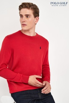 Ralph Lauren Polo Golf Orange Red Crew Jumper