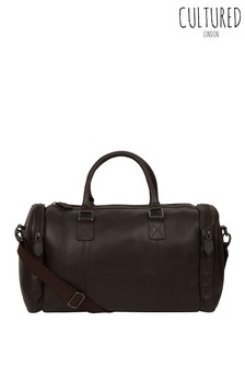 Cultured London Ocean Leather Holdall