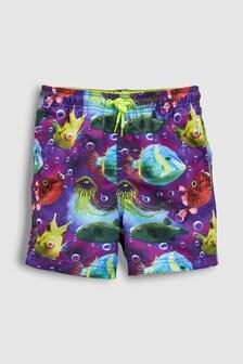 Puffer Fish Print Swim Shorts (3mths-16yrs)