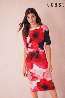 Красное цельнокроеное платье из неопрена Coast Rosalina
