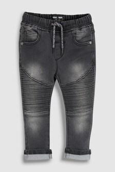 Jersey Denim Pull-On Biker Jeans (3mths-6yrs)
