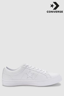 Converse White/White Leather One Star
