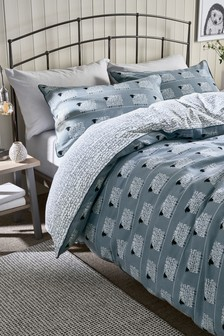 Brushed Cotton Sheep Duvet Cover And Pillowcase Set