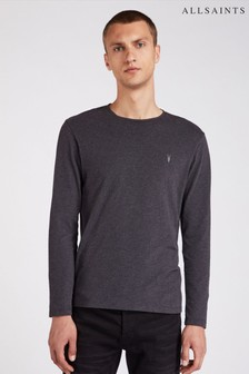 AllSaints Charcoal Long Sleeve Brace T-Shirt
