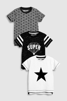 Short Sleeve T-Shirt Three Pack (3mths-6yrs)