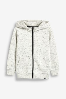 Zip Through Textured Hoody (3-16yrs)