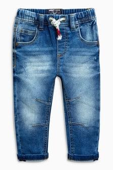 Трикотажные джинсы без застежки (3 мес.-6 лет)