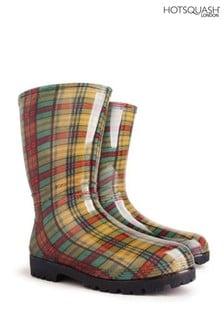 HotSquash Women's Yellow Wellington Boots