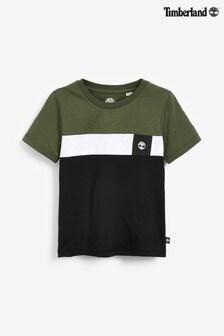 Timberland® Khaki Colourblock T-Shirt