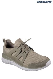 Skechers® Natural Suede Overlay And Air Cooled Memory Foam Trainer