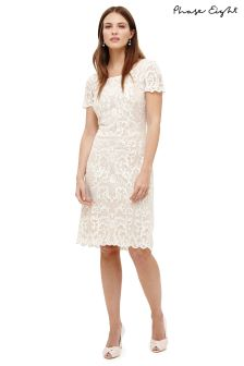 Phase Eight Ivory/Camo Tatiana Embroidered Dress