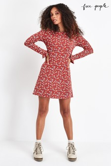 Free People Red Say Hello Floral Mini Dress