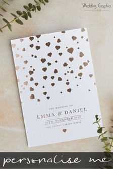 Personalised Confetti Foil Order Of The Day Card By Wedding Graphics
