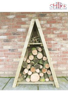 Small Triangular Log Store By Shire