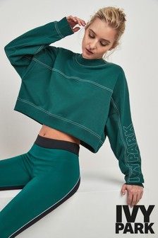 Ivy Park Green Stab Stitch Sweater