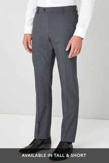 Wool Blend Stretch Suit: Trousers