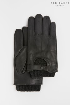 Ted Baker Satch Knitted Rib Leather Gloves