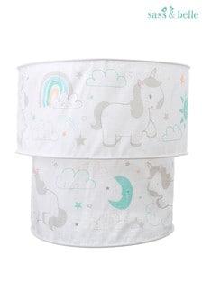 Pantalla para lámpara con diseño de unicornio de Sass & Belle