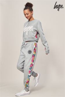 Hype. Grey Floral Jogger