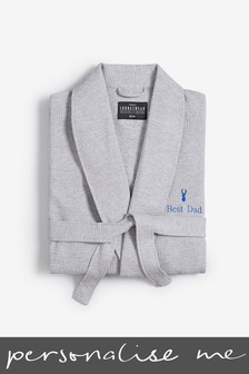 Personalised Lightweight Waffle Robe